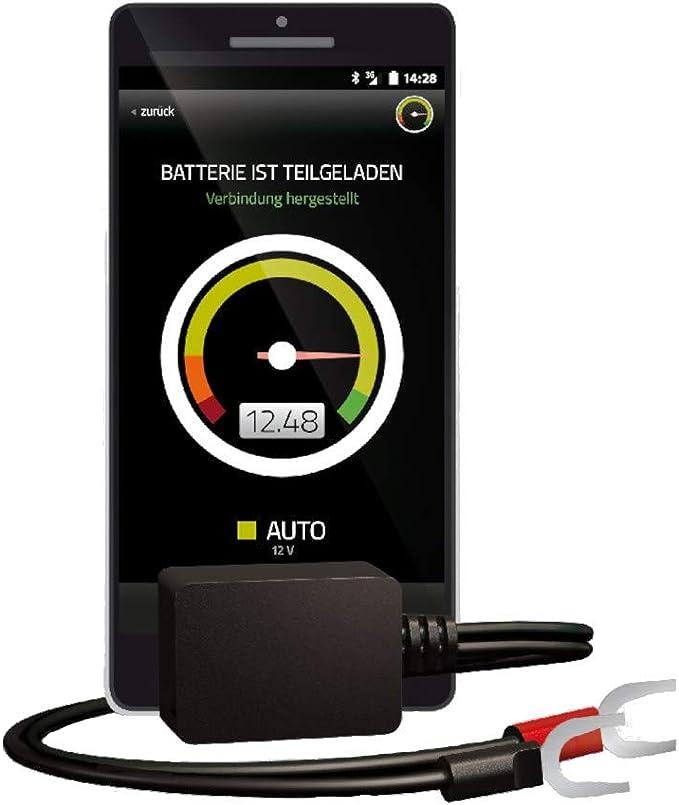 Battery Guard Bluetooth Batterieüberwachung Via App Zum Einsatz Im Auto Motorrad Oder Wohnmobil Geeignet Für 6v 12v Und 24v Batterien Einfache Installation Schwarz 40x25x20 Mm Auto