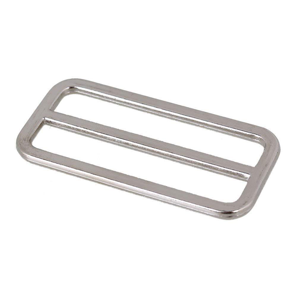25mm Tri-Glide Slides Square Ring Slide Adjusters Buckles Webbing Belts Buckle for Belt Bags DIY Accessories 10Pcs Metal Tri-Glide Slides Buckles Kit 25mm