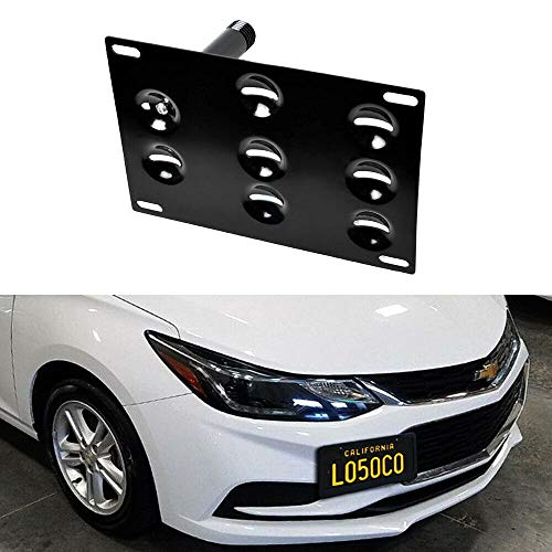 Front Bumper Tow Hook License Plate Bracket Adapter For 17-up Gen2 Chevy Cruze (Hooks Tow Chevy)