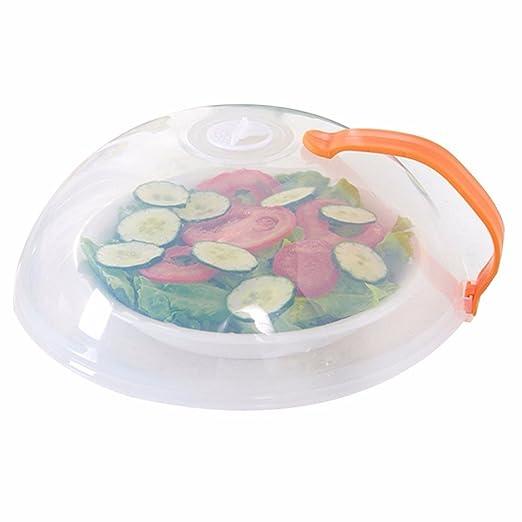 aohang sin BPA 26 * 10,5 cm Microondas plato alimentos tapa ...