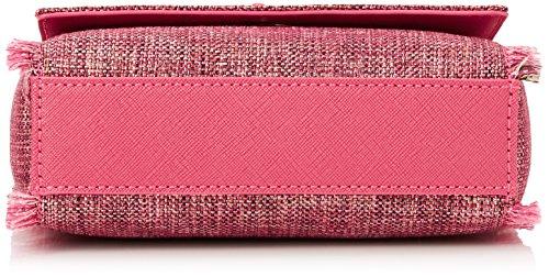 Trussardi Jeans Ischia, Borsa a Tracolla Donna, 16.5x16.5x6.5 cm Rosa (Fuxia)