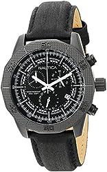 Nautica Men's NAD17520G NST 11 Analog Display Quartz Black Watch