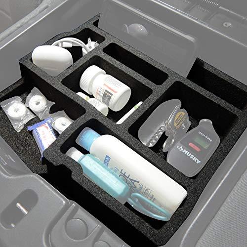 Red Hound Auto Full 3 Piece Vehicle Organizer System Center Console Upper Dash and Glove Box Inserts Compatible with Dodge Ram 1500 2500 3500 2013 2014 2015 2016 2017 2018 - Glove Dodge