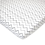 American-Baby-Company-3-Piece-100-Natural-Cotton-Value-Jersey-Knit-Fitted-PortableMini-Crib-Sheet-Grey-StarZigzag-24-x-38-x-5-Soft-Breathable-for-Boys-and-Girls