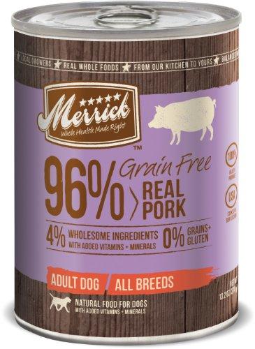 Merrick Grain Free 13.2-Ounce Real Pork Dog Food, 12 Count Case