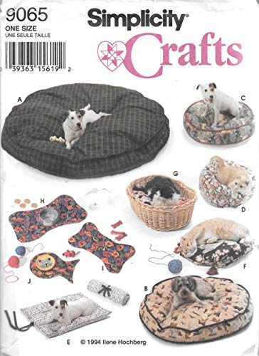 Simplicity 9065 - Dog and Cat Bed and Placemat Pattern Set ()