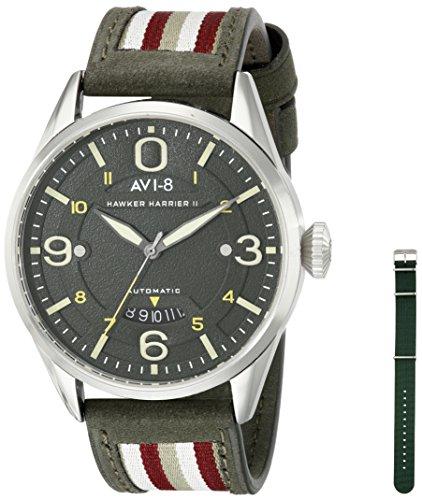 AVI-8 Men`s AV-4040-02 Hawker Harrier II Analog Display Japanese Automatic Green Watch