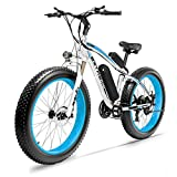 Cyrusher Fat Tire Bike Snow Bike Mountain Bike with Motor 500W/1000W 48V Lithium Battery Extrbici XF660 4.0 inch Fat Tire s New Adjustable Handlebar