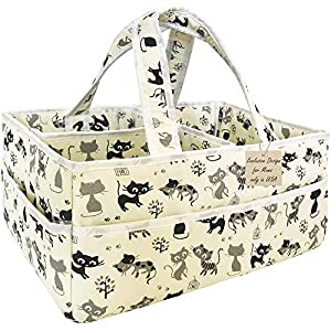 Baby Diaper Bag Organizer Unisex – Extra Large Baby Diaper Caddy Organizer – Nursery Diaper Caddy Portable – Diaper Bag Organizer Pouches – Diaper Caddy Basket and Baby Shower Gifts for Boys & Girls