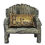 Fairy Garden Fairy Bench With Believe Pillow