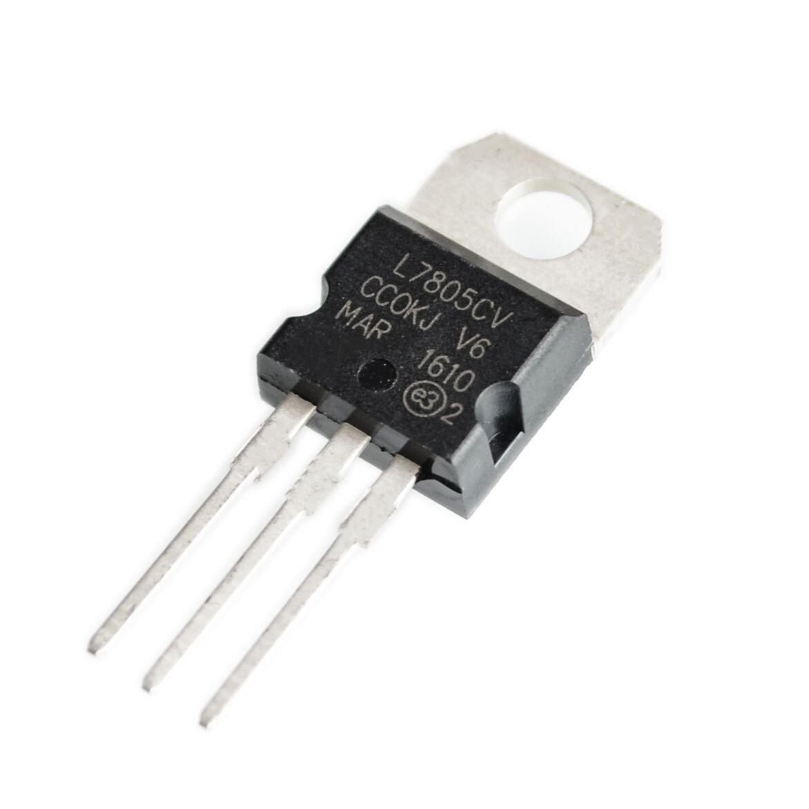 L7805 TO220 LOT DE 5 REGULATEURS 1,5A L7805CV LM7805 5V