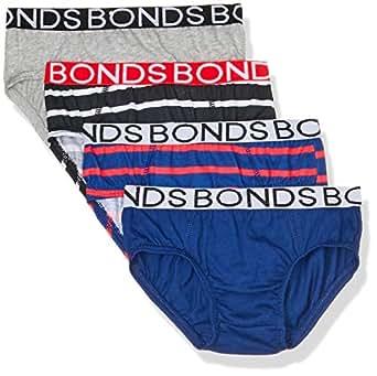 Bonds Boys Underwear Brief (4 Pack), Blue & Red, 6/8