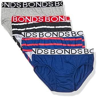 Bonds Boys Underwear Brief (4 Pack), Blue and Red, 6/8