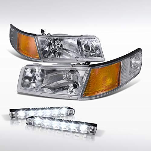 - Autozensation For Mercury Grand Marquis Headlights Chrome+Corner Lights+6-LED Lamp