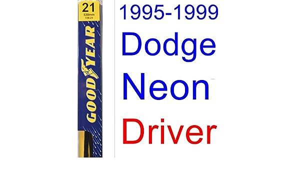 1995 - 1999 Dodge Neon hoja de limpiaparabrisas de repuesto Set/Kit (Goodyear limpiaparabrisas blades-premium) (1996,1997,1998): Amazon.es: Coche y moto