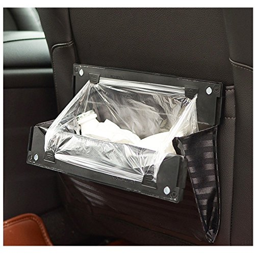 KINGZHUO 1 Pc Universal Car Vehicle Back Seat Folding Garbage Can Auto Products Wastebasket Trash Can Litter Trash Garbage Storage Container Multi-Function Car Back Seat Organizer Holder ()