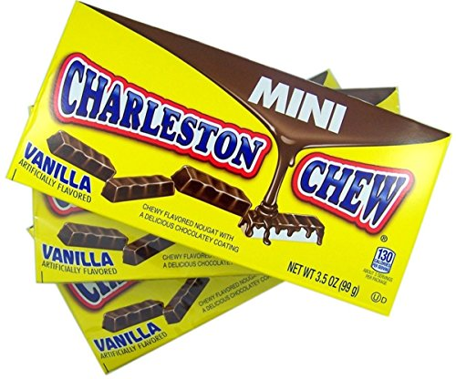 Mini Charleston Chew Vanilla Flavored Theater Box, 3.5 oz, Pack of (Chews Theater Box)