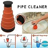per Home Pipe Dredging Tool Sewer Cleaner Portable Dredger Flush Blockage Away for Bathroom&Kitchen