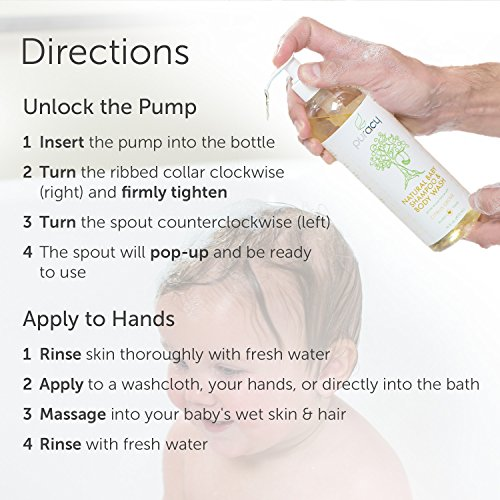Puracy Natural Baby Shampoo & Body Wash, Tear-Free Soap, Sulfate-Free, 16 Ounce, (Pack of 2) by Puracy (Image #4)