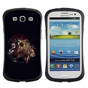 "Hypernova Slim Fit Dual Barniz Protector Caso Case Funda Para SAMSUNG Galaxy S3 III / i9300 / i747 [Ataque del oso""]"