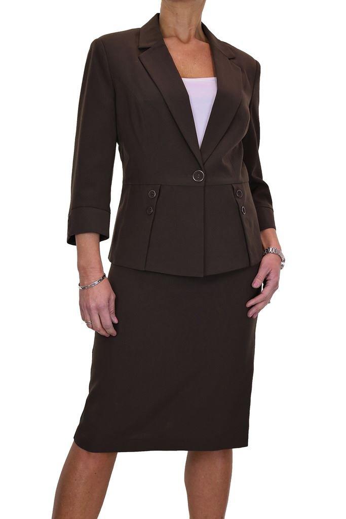 ICE Womens Designer Look Jacket Skirt Suit Business 6-18