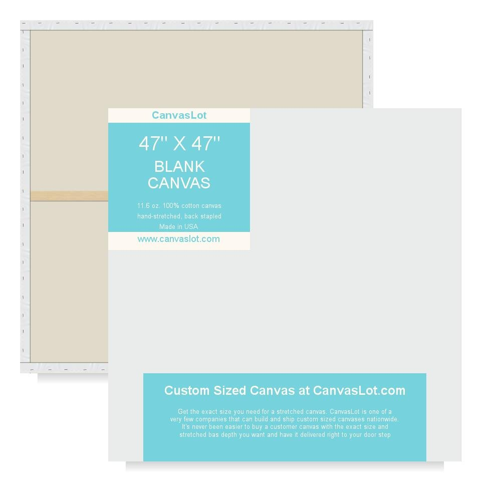 amazon com canvaslot 47 x 47 extra large stretched blank canvases