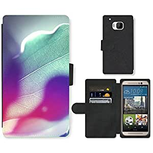 Hot Style Cell Phone Card Slot PU Leather Wallet Case // M99999427 Rainbow Colours Of Sunshine // HTC One M9