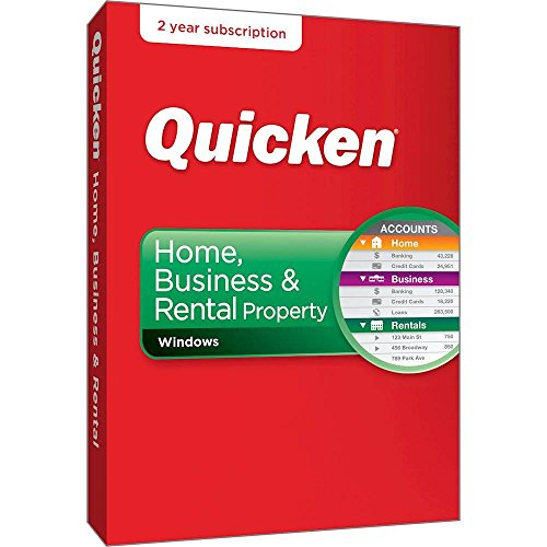Quicken Home, Business & Rental Property 2018 Release - 24-Month Personal Finance & Budgeting Membership (Property Manager Software)
