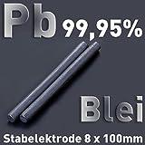 Plomo Pb 99,9 redondo Varilla ánodo 100 x ⌀ 8 mm galvanoplástica electrólisis Element