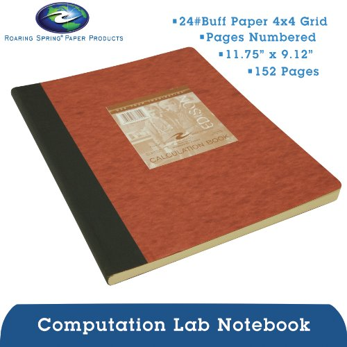 Roaring Spring Computation Lab Book, 11 3/4'' x 9 1/8'', 152 pages, Buff Paper by Roaring Spring (Image #12)