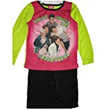 1D Little Girls Pink Green Black One Direction Band Print 2 Pc Pajama Set 4