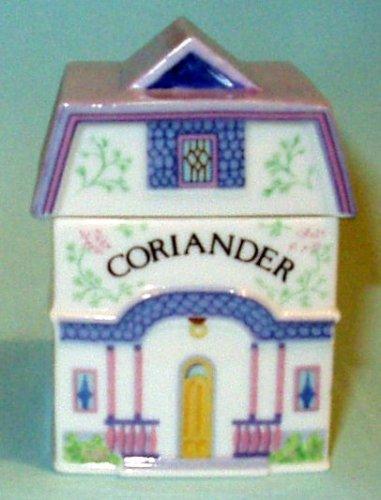 Coriander 'Lenox Spice Village' Porcelain Victorian House Spice Jar
