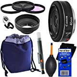 canon 60d package deal - Canon EF 40mm f/2.8 STM Pancake Lens for Canon EOS 7D, 60D, EOS Rebel SL1, T1i, T2i, T3, T3i, T4i, T5i, XS, XSi, XT, & XTi Digital SLR Cameras + 10pc Bundle Deluxe Accessory Kit w/ HeroFiber® Ultra Gentle Cleaning Cloth