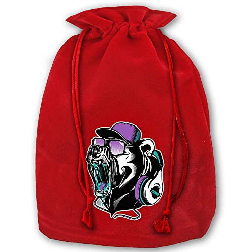 BeautifulHip Hop BearChristmas Bouquet Gift Bag