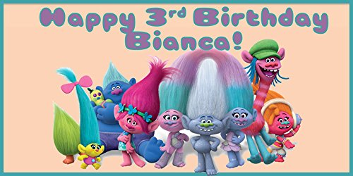 Dreamworks Trolls Birthday Banner