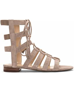 cd592ff8a70c Vince Camuto Helayn Womens Cashmere Suede Open Toe Ghillie Sandals Size 7.5