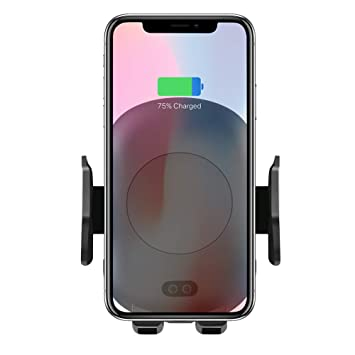 Te Qi Wireless Car Mount infrarrojos sensor de movimiento Soporte para teléfono