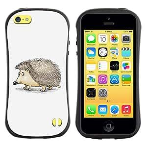 Be-Star Impreso Colorido Diseño Antichoque Caso Del iFace Primera Clase Tpu Carcasa Funda Case Cubierta Par Apple iPhone 5C ( Cute Friendly Hedgehog )