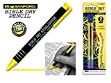 Dry Bible/Book Highlighter Pen With 2 Pack Bible/Book Dry Highlighter Refill (Yellow)