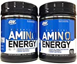 Optimum Nutrition Essential Amino Energy, Pack of Two 65 Servings (Blue Raspberry 2 x 65svgs)
