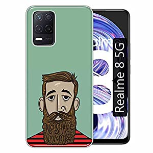 Gismo Designer Printed Soft Silicone Pouch Back Case Mobile Cover for Realme 8 5G / for Boys and Girls – A155