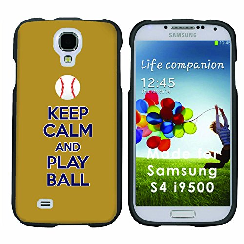 Keep Calm and Play Ball - Milwaukee - Mobiflare Samsung Galaxy S4 Slim Guard Armor Black Phone Case Please verify your phone model (Brewers Samsung Galaxy S4 Case)