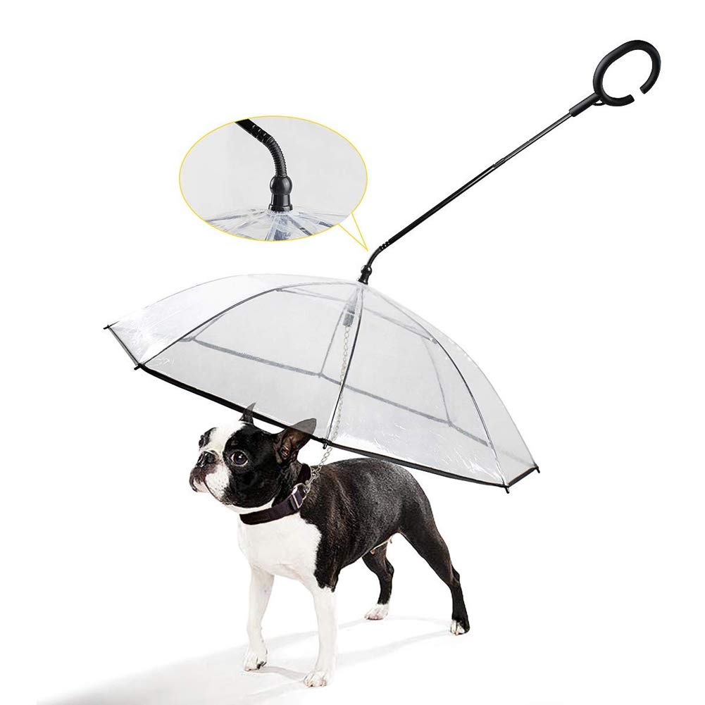 Pet Dog Umbrella with Leash Waterproof for Doggy Puppy