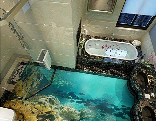 Cheap  3D Floor Seaworld Affixed Bedroom Living Room Lobby Floor Painting Mural Wallpaper-200X100Cm..