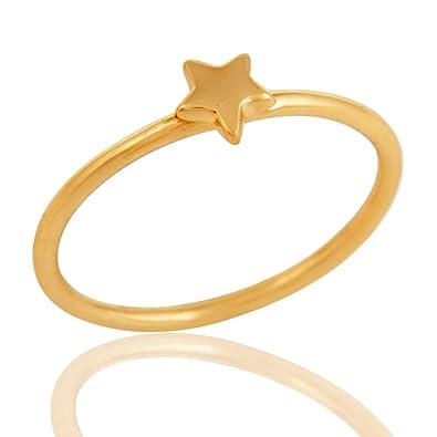 Simple Design Rings | Amazon Com 18k Gold Plated Handmade Little Star Design Ring Cute