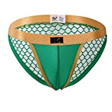 Gibobby Erotic Panties for Men Mesh Underwear Sexy Underwear Fishnet Hollow Out Low Waist Crotchless Thongs Underpant Green