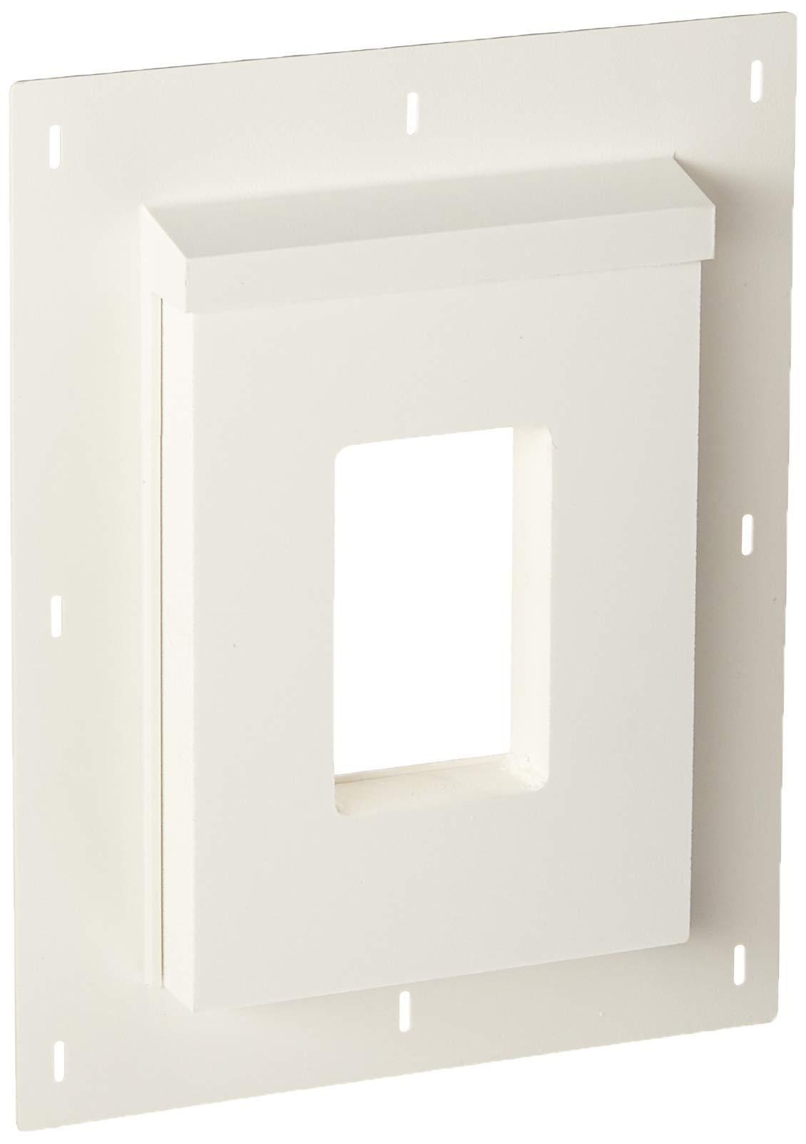 Builders Edge SMR68TW Sturdimount Receptacle Primed Mounting Block, 6 In W X 8-1/2 In H, Fiber Cement (Renewed)