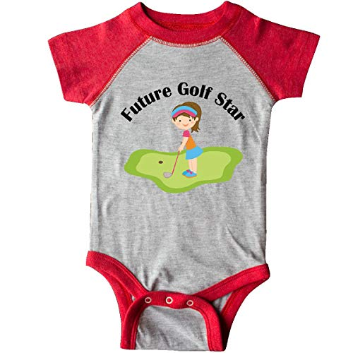 - inktastic - Future Golf Star Infant Creeper 24 Months Heather and Red 10c24