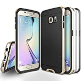 Galaxy S6 Edge Case, Obliq [Dual Poly Bumper] [Gold,Silver,and Black] Thin Slim Fit Bumper Armor Scratch Resist Polycarbonate Finish Dual Layered Heavy Duty Hard Protection Hybrid High Quality Cover (for Samsung Galaxy S6 Edge)