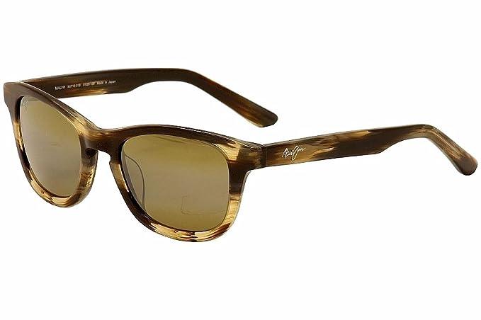 eee87693d040 Maui Jim H713-01B Chocolate Kaa Point Retro Sunglasses Polarised Lens  Mirrored